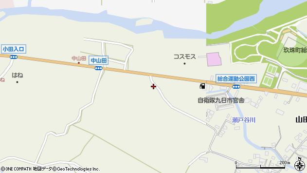 大分県玖珠郡玖珠町山田2482周辺の地図