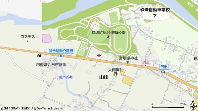 大分県玖珠郡玖珠町山田86周辺の地図