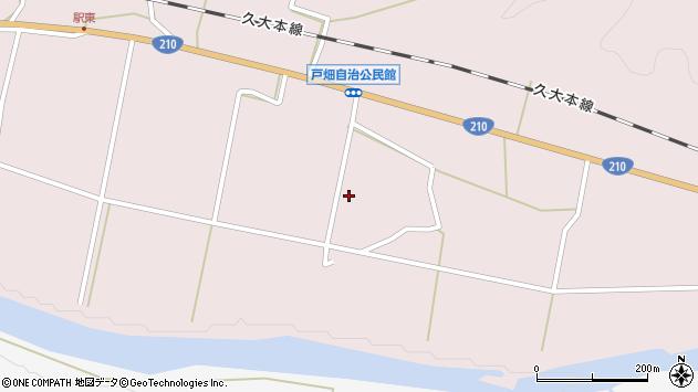 大分県玖珠郡玖珠町戸畑1056周辺の地図