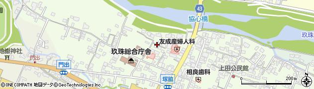 大分県玖珠郡玖珠町塚脇122周辺の地図