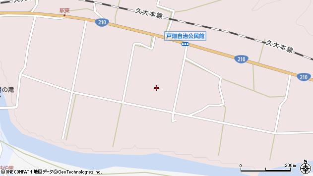 大分県玖珠郡玖珠町戸畑前原周辺の地図