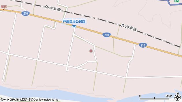 大分県玖珠郡玖珠町戸畑1050周辺の地図
