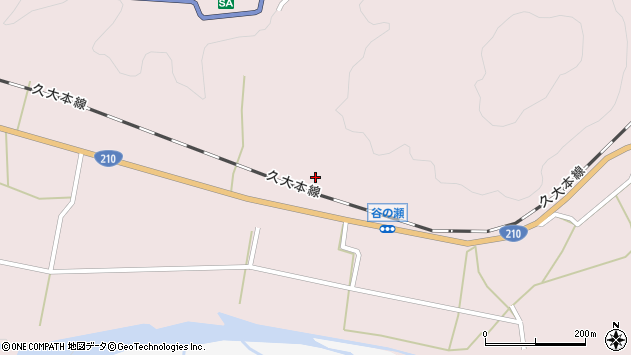 大分県玖珠郡玖珠町戸畑640周辺の地図
