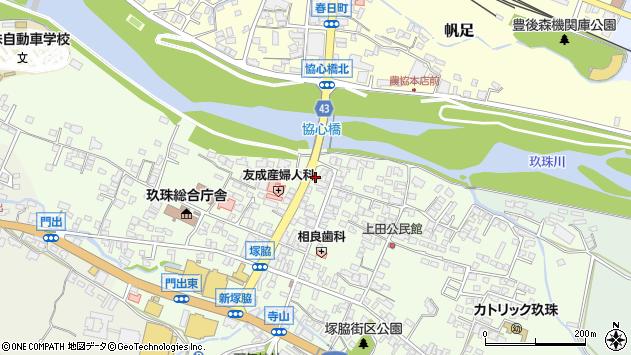 大分県玖珠郡玖珠町塚脇334周辺の地図