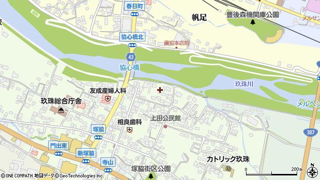 大分県玖珠郡玖珠町塚脇355周辺の地図