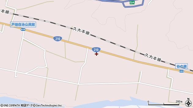 大分県玖珠郡玖珠町戸畑916周辺の地図