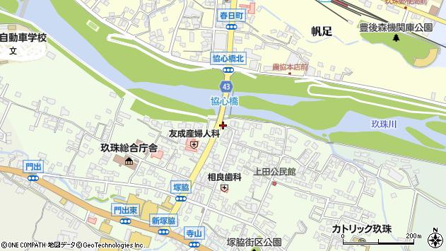 大分県玖珠郡玖珠町塚脇333周辺の地図