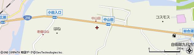 大分県玖珠郡玖珠町山田2528周辺の地図