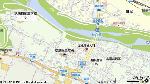 大分県玖珠郡玖珠町塚脇119周辺の地図