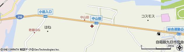 大分県玖珠郡玖珠町山田2525周辺の地図