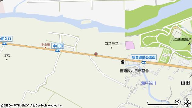 大分県玖珠郡玖珠町山田2542周辺の地図