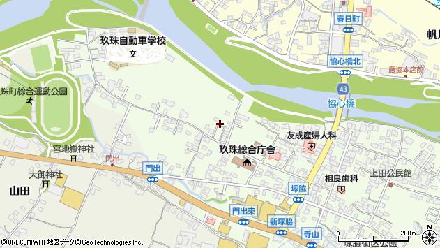 大分県玖珠郡玖珠町塚脇109周辺の地図