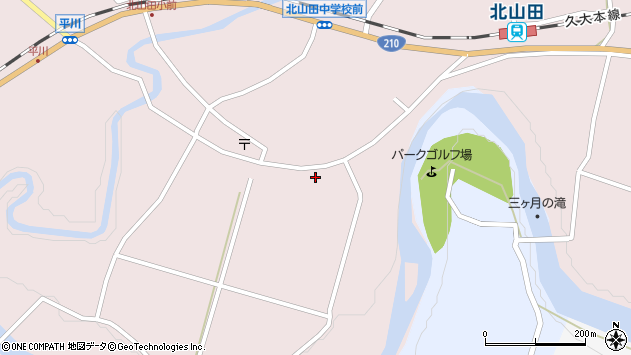 大分県玖珠郡玖珠町戸畑6655周辺の地図