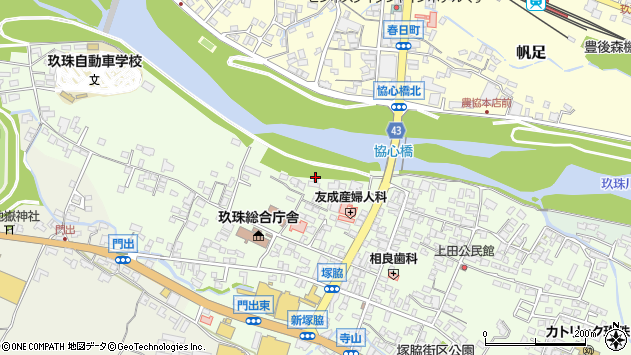 大分県玖珠郡玖珠町塚脇120周辺の地図