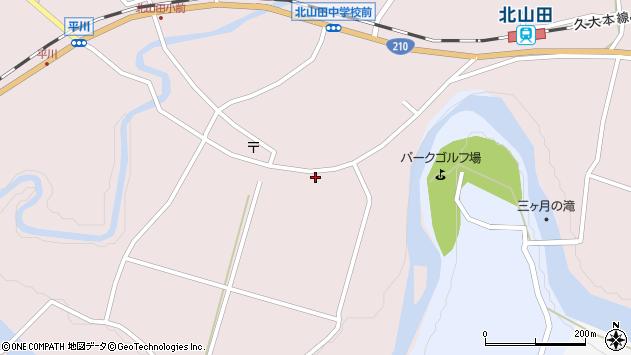 大分県玖珠郡玖珠町戸畑6554周辺の地図