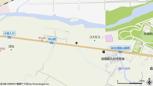 大分県玖珠郡玖珠町山田2543周辺の地図