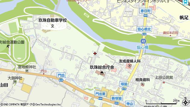 大分県玖珠郡玖珠町塚脇110周辺の地図