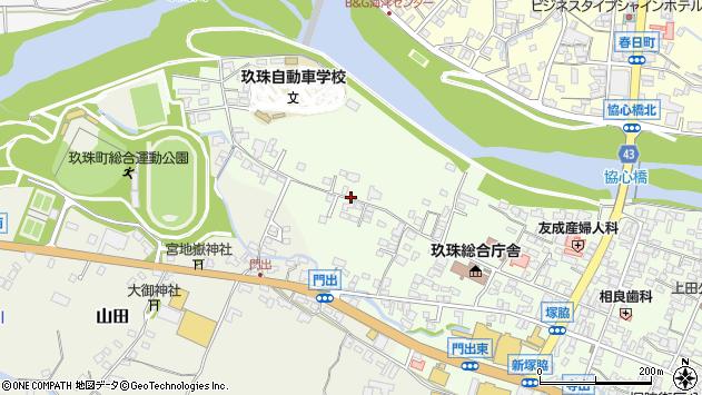 大分県玖珠郡玖珠町塚脇101周辺の地図