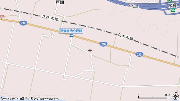 大分県玖珠郡玖珠町戸畑996周辺の地図