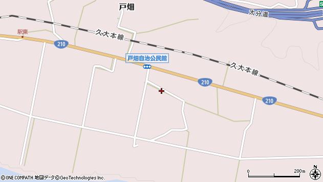 大分県玖珠郡玖珠町戸畑1040周辺の地図