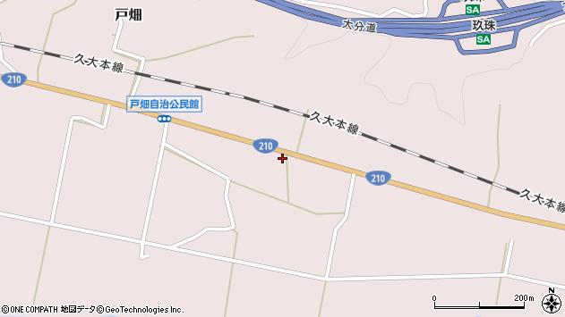 大分県玖珠郡玖珠町戸畑902周辺の地図