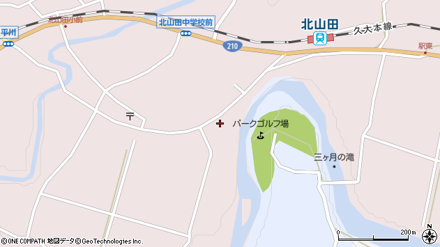大分県玖珠郡玖珠町戸畑6548周辺の地図