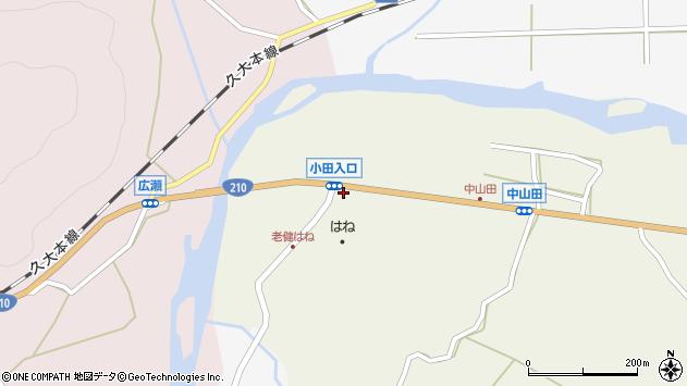 大分県玖珠郡玖珠町山田2周辺の地図