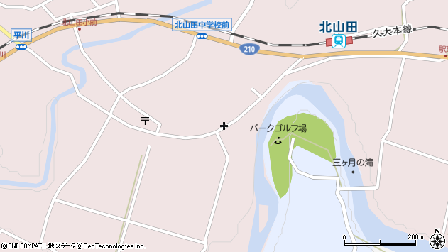 大分県玖珠郡玖珠町戸畑6556周辺の地図