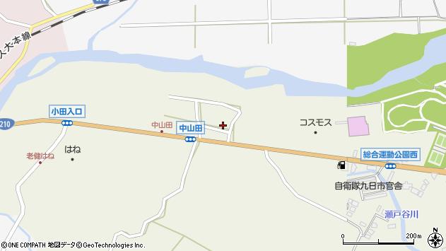 大分県玖珠郡玖珠町山田1557周辺の地図