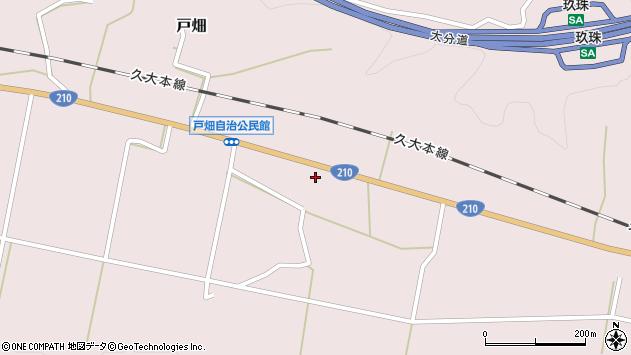 大分県玖珠郡玖珠町戸畑1000周辺の地図