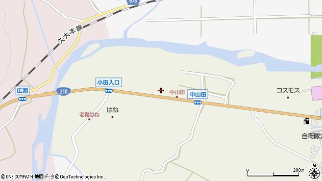 大分県玖珠郡玖珠町山田2641周辺の地図