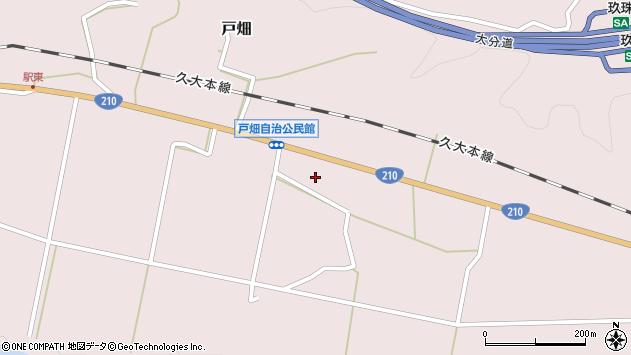 大分県玖珠郡玖珠町戸畑1005周辺の地図