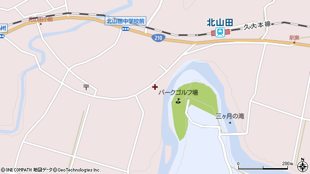 大分県玖珠郡玖珠町戸畑6539周辺の地図