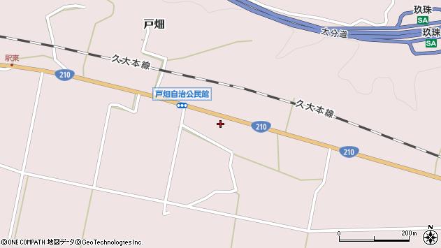 大分県玖珠郡玖珠町戸畑1008周辺の地図