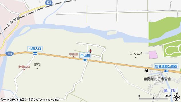 大分県玖珠郡玖珠町山田2564周辺の地図