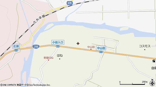 大分県玖珠郡玖珠町山田2602周辺の地図