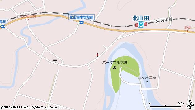 大分県玖珠郡玖珠町戸畑6537周辺の地図