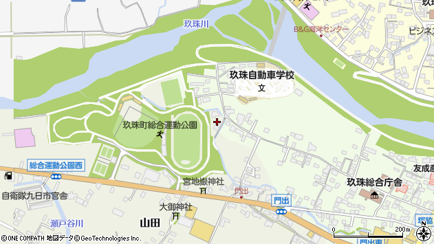 大分県玖珠郡玖珠町山田108周辺の地図