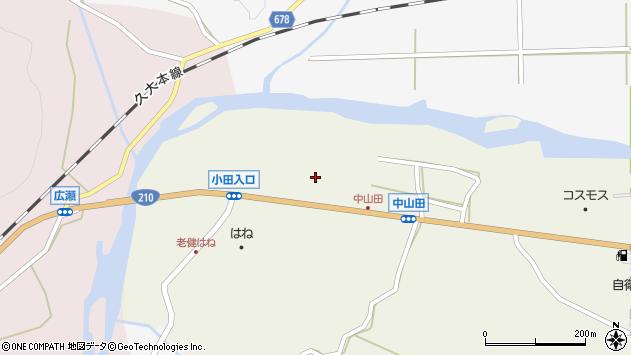 大分県玖珠郡玖珠町山田2639周辺の地図