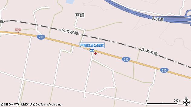 大分県玖珠郡玖珠町戸畑1021周辺の地図