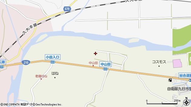 大分県玖珠郡玖珠町山田2666周辺の地図