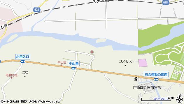 大分県玖珠郡玖珠町山田2579周辺の地図