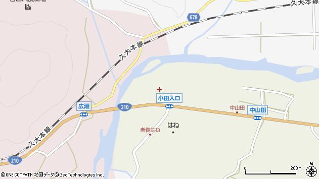 大分県玖珠郡玖珠町山田2624周辺の地図