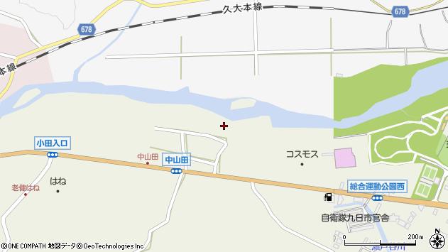 大分県玖珠郡玖珠町山田2580周辺の地図