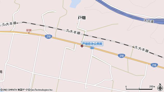 大分県玖珠郡玖珠町戸畑1214周辺の地図