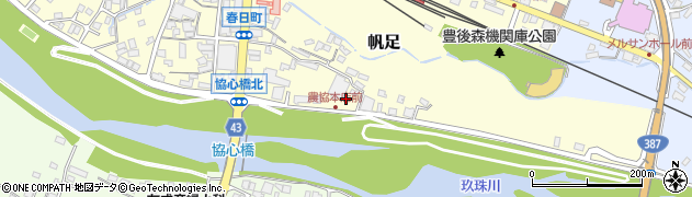 大分県玖珠郡玖珠町帆足389周辺の地図