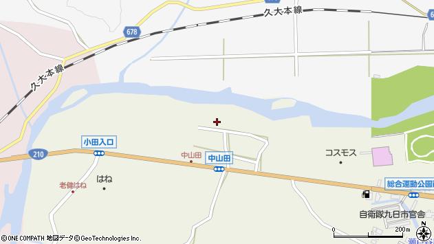 大分県玖珠郡玖珠町山田2611周辺の地図