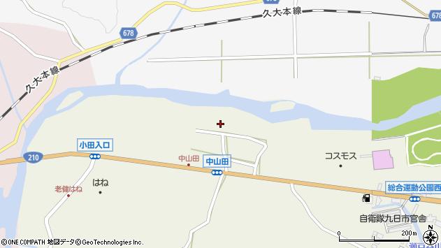 大分県玖珠郡玖珠町山田2597周辺の地図