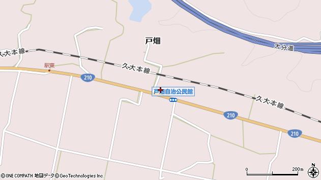 大分県玖珠郡玖珠町戸畑1225周辺の地図
