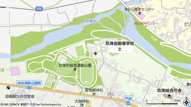 大分県玖珠郡玖珠町塚脇17周辺の地図